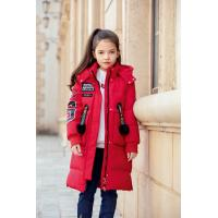 China Bilemi Long Hooded Outerwear Kids Down Jacket Winter Jacket For Girls for sale