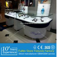 Quality modern design acrylic jewelry showcase with LED lights for sale