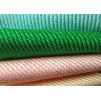 Quality High Fastness Heavy Cotton Twill Fabric With Pattern Diagonal Parallel Ribs for sale