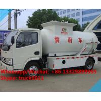 Quality factory sale best price dongfeng 120HP 4tons side lifting bins food garbage truck,6m3 wastes food collecting vehicle for sale