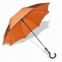 Quality Straight Auto Open and Close Umbrella with AO/AC Marking, Measures 23-inch x 16 Ribs for sale