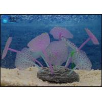 Buy Colorful Silicone Soft Aquarium Tank Decorations , Flower Coral Jellyfish Tank Ornaments at wholesale prices