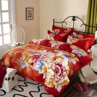 Quality Luxury 9 Pieces Home Bedding Comforter Sets Double Full Size Red Color for sale