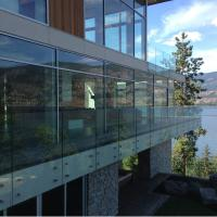 Quality Easy Installation 304 Stainless Steel Frameless Glass Standoff Railing / Wall Mounted Glass Standoff for sale