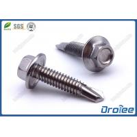 Quality 410 Stainless Steel Self Tek Screws, Passivated, Hex Flange Washer Head for sale