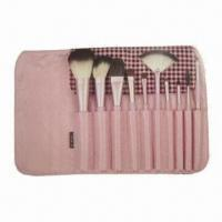 Quality Makeup Brush Set with Wooden Handle for sale