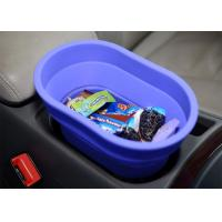 Flexible Food Safe Silicone Collapsible Bucket For Car , Collapsible Camping Bucket