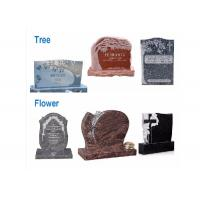 Quality Various Shape Granite / Marble Headstones For Graves , Angel Headstones For Graves for sale