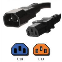 Quality UL VDE 25 Foot IEC 60320 Power Cord C14 to C13 with H05VV F3G1.0 Jacket for sale