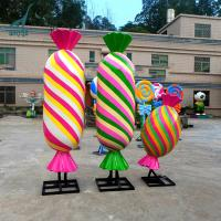 Quality Hot sale fiberglass large size candy statue for christmas for sale