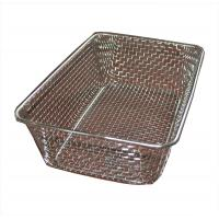Quality Food grade Woven Wire Metal Wire Basket , Stainless Steel Wire Mesh Baskets for sale