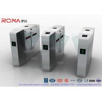 Quality Outdoor / Indoor Flap Barrier Gate Entrance Turnstiles Removable HID 13.56mhz RFID Reader for sale