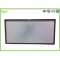 Quality H10 - H14 Efficiency Hepa Filter Replacement , Pleated Panel Air Filters Easy To Install for sale