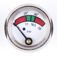 Quality 1 Inch 25mm Diaphragm Pressure Gauge Fire Extinguisher With Chrome Plated for sale