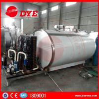 Quality Horizontal 200L Stainless Milk Cooling Tank Trailer Safety Prevents Bacteria From DYE for sale