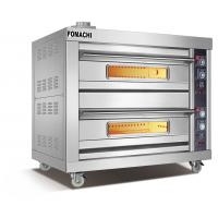 Quality Gas Deck Oven 2 Deck 4 Trays All Stainless Steel Body Gas Deck Oven FMX-O37BH for sale