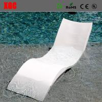 Quality 2017 Hot Selling PE Wavy Shape In-water Chaise Poolside Leisure Sun Lounge Chairs for sale