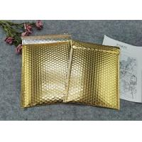 Quality Protective Gold Colored Bubble Wrap Mailing Bags / Poly Bubble Mailers for sale