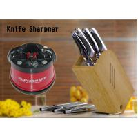 Quality Red Suction Pad Kitchen Knife Sharpener for sharpening kitchen knives for sale