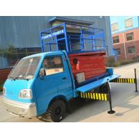 3.5km/h Walking speed Truck-Mounted Scissor Lift  with 6 - 12 m Lifting Height