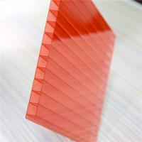 Buy Red Color Two Wall 4mm Polycarbonate Greenhouse Panels OEM / ODM Acceptable at wholesale prices