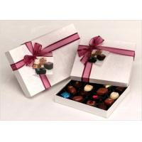 Quality Neat Choclate Custom Packaging Boxes With Ribbon , Packaging Cardboard Boxes for sale