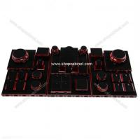 Buy Luxurious Wooden Jewelry Display Showcases With for jewelry props store at wholesale prices