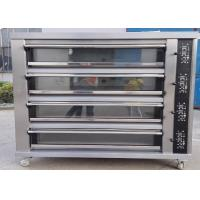 Quality Four Deck Four Trays Electric Baking Oven Gas Electric Deck Oven for Bread for sale