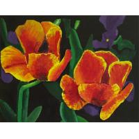 Quality flower painting home painting frameless painting for sale