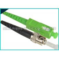 Buy ST - ST Fiber Optic Patch Cables , Aqua PVC Sheath Fiber Jumper Cables at wholesale prices