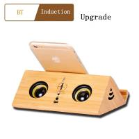 Quality Portable Wireless Bluetooth Speaker with  wooden gifts Usb Charging Port  FM radio display online for sale