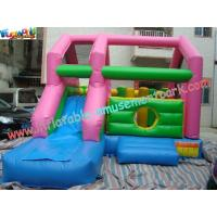 Quality Children Sport Inflatable Bouncer Slide , 6Lx4Wx3.5H Velcro Printing Slides for sale