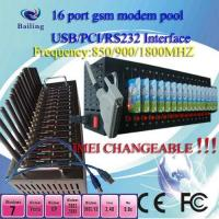 Quality USB 16Ports GSM/GPRS SMS modem pool (wavecom/siemens module) with calling for sale
