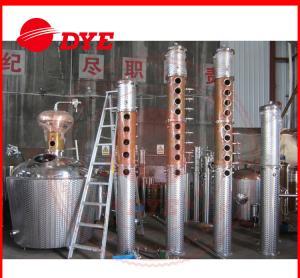 Quality 1000L Moonshine Pot Still For Making Alcohol , Vodka Distillation Equipment CE for sale