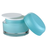 Quality JL-JR801 15ml 30ml 50ml Cosmetic Packaging round  Jars PMMA for sale