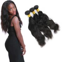 China Clean Weft Natural Wave Virgin Hair , Virgin Peruvian Remy Natural Wave Hair on sale