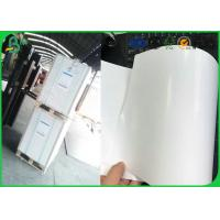 Quality High Glossy One Side Coated Art Paper , 80gsm 90gsm Thickness Matt Art Paper Rolls for sale