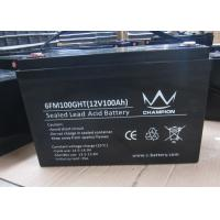 Quality 100Ah deep cycle charging lead acid batteries inverter solar Good discharge performance for sale