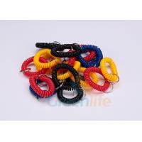 Quality Split Ring Flat Weld Plastic Wrist Coil Badge Accessories Various Colours for sale