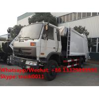 Buy cheap Factory sale bottom price dongfeng 10m3 compression garbage truck refuse garbage truck customized for Kyrgyz Republic from wholesalers