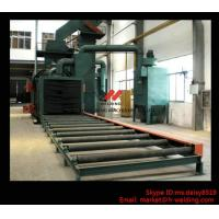 Quality Steel Plate / H Beam Shot Blasting Machine For Cleaning And Blasting Before Sanding and Painting for sale