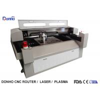 Quality Metal / Fabric Laser Cutting Machine , Industrial CNC Fabric Cutter With Alarm Light for sale