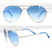 Quality Fashion Handcrafted Blue Metal Frame Sunglasses , Vogue Sun Glasses for sale