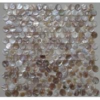 Quality Multicolor Round Shell Mosaic Tile Backsplash For Kitchen Decoration for sale