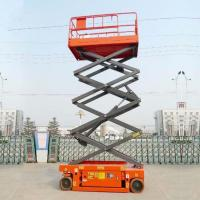 Quality Manganese Steel Upright Mobile Hydraulic Scissor Lifting Platform CE Certification for sale