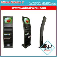 China Newspaper Metal Magazine Display Stand with Sumsung LCD Advertising Screen on sale