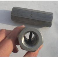Quality Weldable steel Hex nuts and couplers, connecting reinforcement bars, with center pin for sale