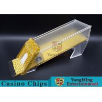 Quality Anti - Cheating Casino Card Shoe / 8 Deck Shoe With Customized Logo Print for sale