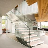 Quality Best stairs design for home with 2 sides of steel stringer for sale