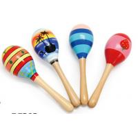 Quality Wood Toy Music Instrument , Cute Colored Orff Wooden Maracas for sale